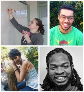 The HSC volunteers, clockwise from top left: Rebecca Czekalski, Matan Gold, Christian Hayden, Naduah Wheeler